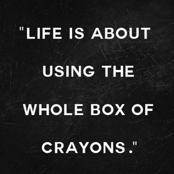 Use the whole box of crayons | The Red Fairy Project
