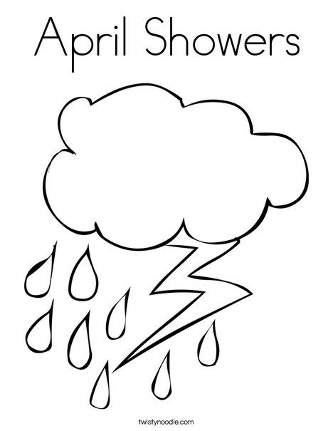 April Showers Coloring Page Coloring Pages Weather Theme Colouring Pages