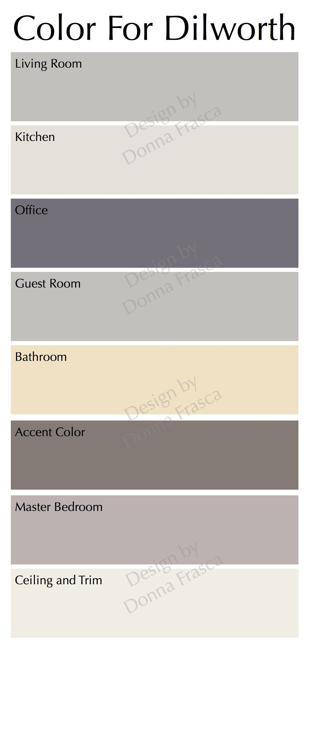 Color palette for home interiors  Choosing Contemporary Color For a Bungalow In Dilworth Charlotte