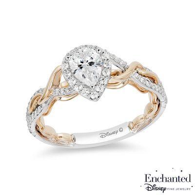 Enchanted Disney Rapunzel 3 4 Ct T W Pear Shaped Diamond