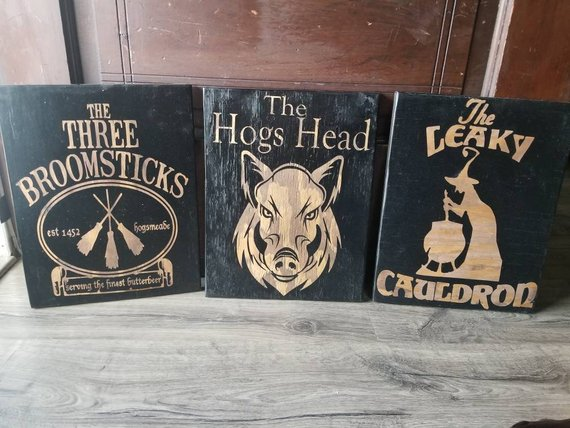 Harry Potter Pub Bar Signs Collection Harry Potter Cosplay