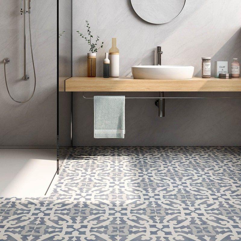 Best Bella Moma 9X9 Porcelain Encaustic Tile Bathrooms 400 x 300