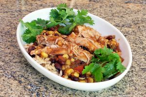 Tex-Mex Style Chicken Thighs for the Slow Cooker: Slow Cooker Chicken Thighs, Tex-Mex Style