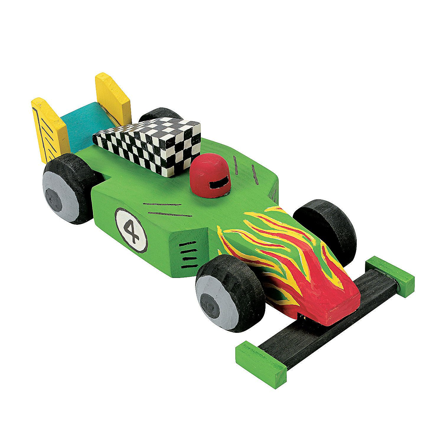 DIY Unfinished Wood Race Car Kit - OrientalTrading com | OST | Hobby