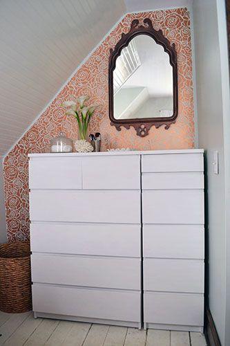 Chalk painted ikea malm dressers cabin plans pinterest for Chalk paint muebles ikea