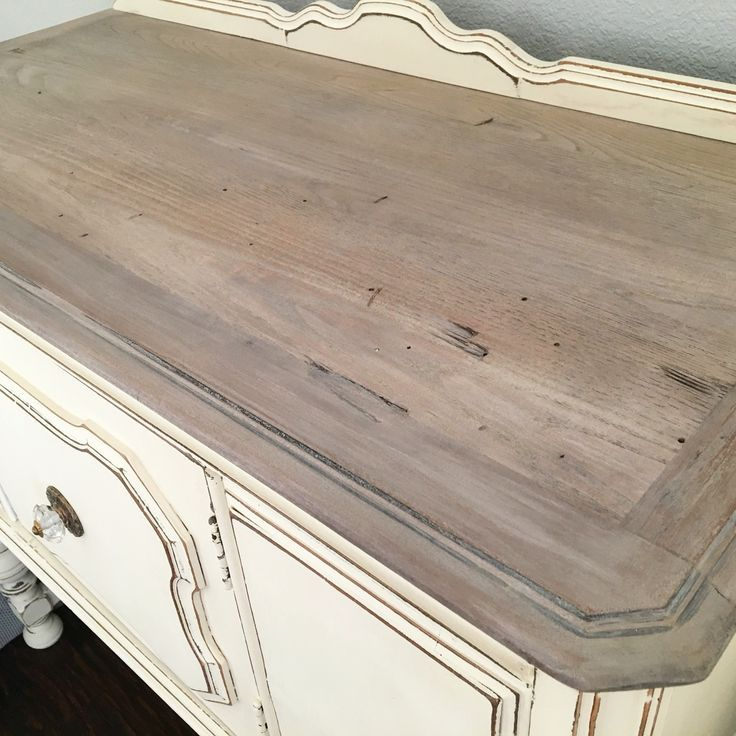 White Wash By Christian Grevstad: Weathered Top. I Used Annie Sloan's Old White Chalk Paint