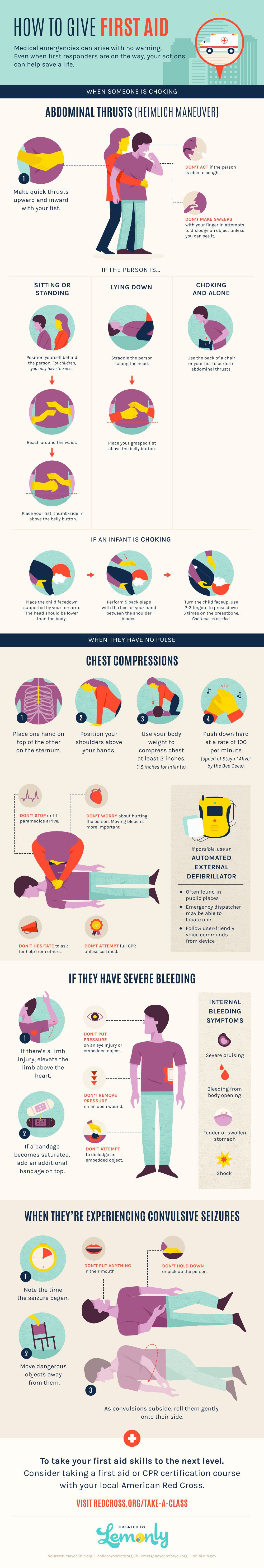How to Give First Aid Infographic   Infographic First aid ...