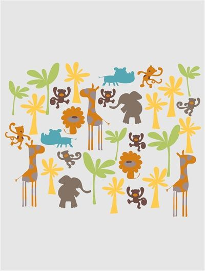 Lot De 62 Stickers Chambre Enfant Savanu0027animo MULTICOLORE   Vertbaudet  Enfant