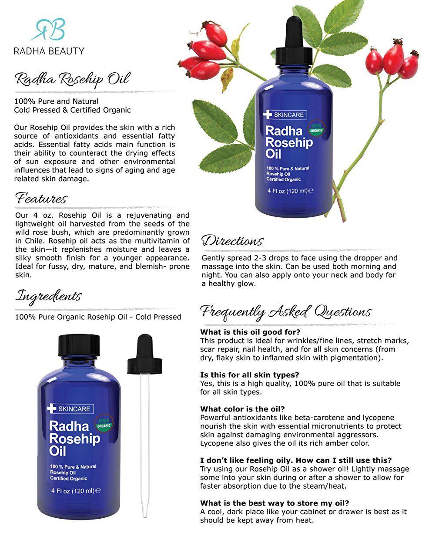 Diy Facial Serum Recipe For Glowing Skin Rosehip Oil Benefits Rosehip Oil Radha Rosehip Oil