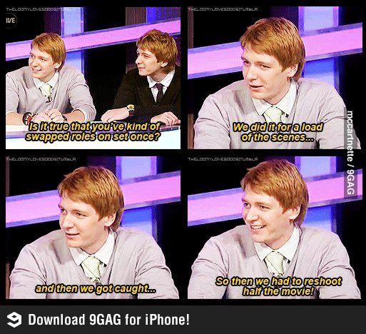 Advantages Of Having A Twin Level Weasley Harry Potter Cast Harry Potter Funny Harry Potter Memes