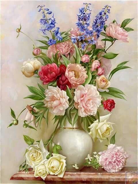 Pin By Sevim Karaca On Mtk Flower Art Flower Painting Floral Art