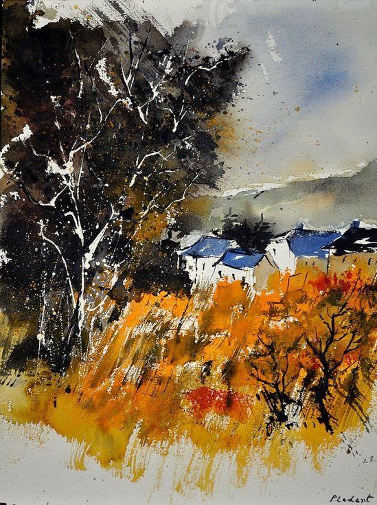 watercolor 31  x 41  cm on arches paper pol ledent