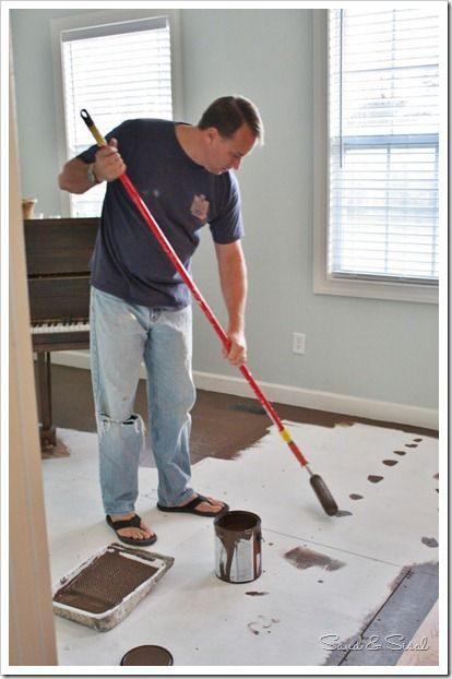 Painted Floors And Struggles With Contentment Sand And Sisal Painted Floors Flooring Plywood Flooring