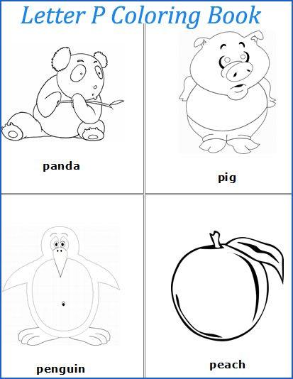 Letter P Words Coloring Pages Plus More Letter P Worksheets Letter P Crafts Coloring Pages