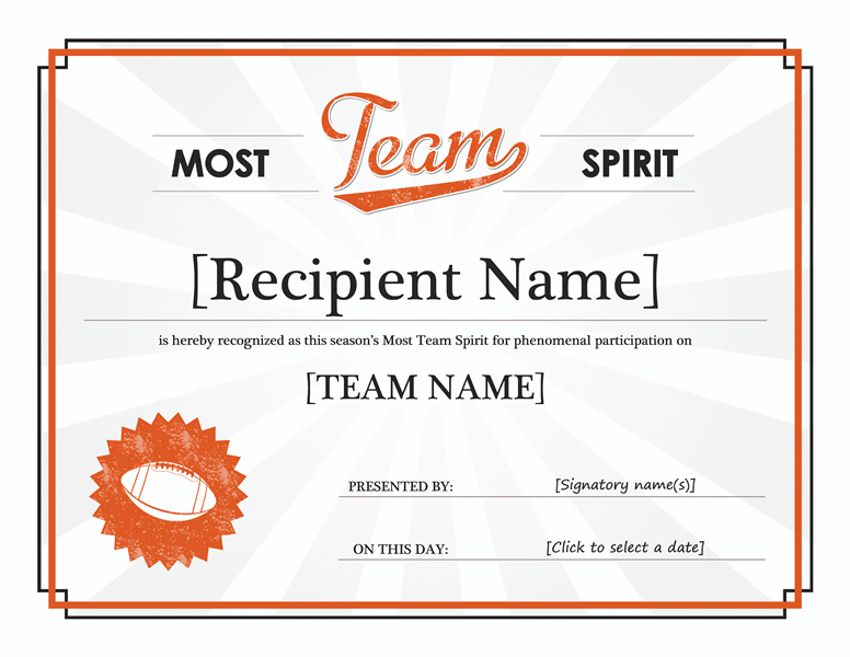 Team Spirit Award Certificate | Pinterest Mini-Mall Viral Board ...