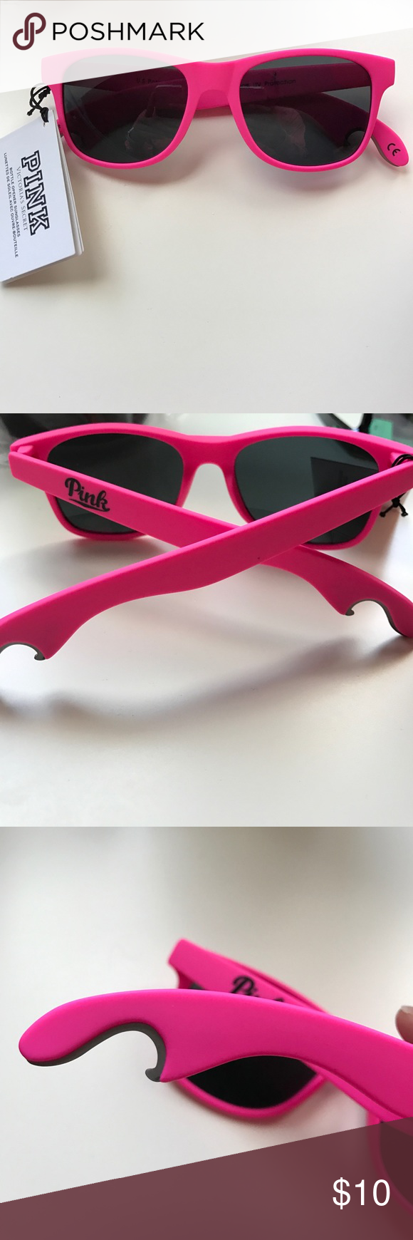 VS Pink bottle opener sunglasses NWT PINK Victoria's Secret Accessories Sunglasses