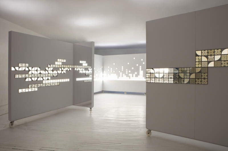 Kumiko Modular OLED Wall Tiles Function As Lighted Wall Art