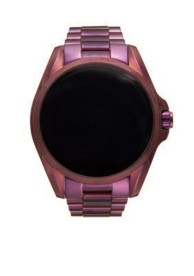 ba5e3d81d83d Michael Kors Women Access Bradshaw Touchscreen Plum Smartwatch - Plum - One  Size