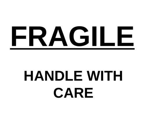 photo about Fragile Printable called Delicate, manage with treatment\