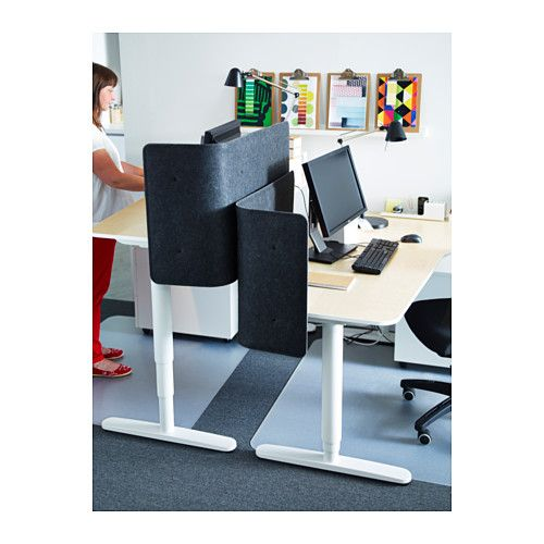 The BEKANT Sit/stand Desk Can Be Raised And Lowered To Assure An Ergonomic  Working Position. Changing Between Sitting And Standing Throughout The Day  Helps ...