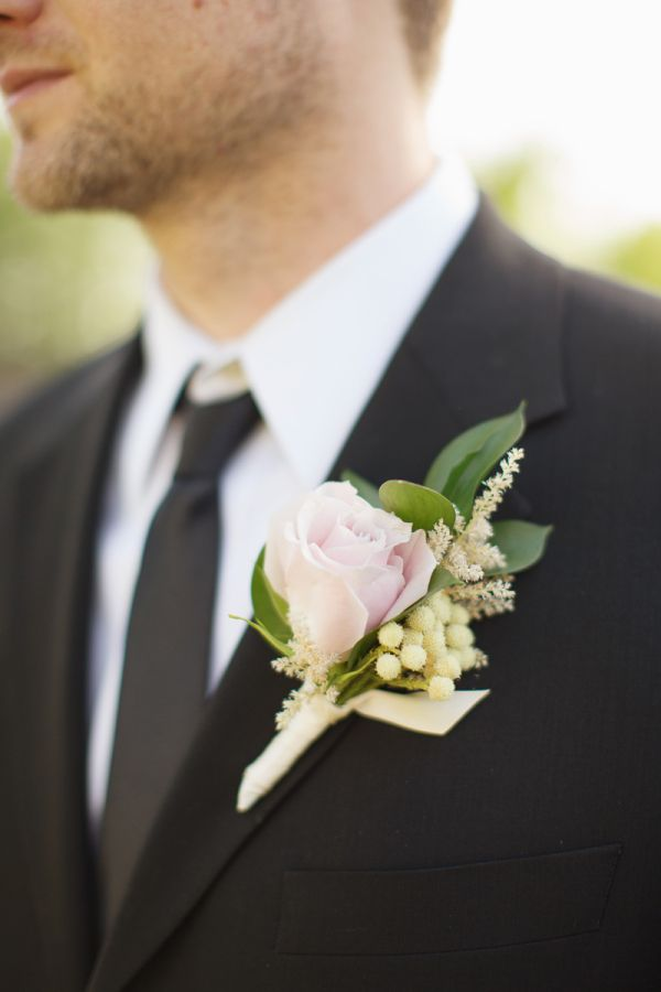 Pale Pink Rose Boutonniere