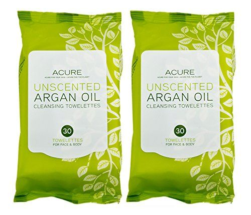 Acure Organics Argan Oil Natural Face Cleanser Towelette