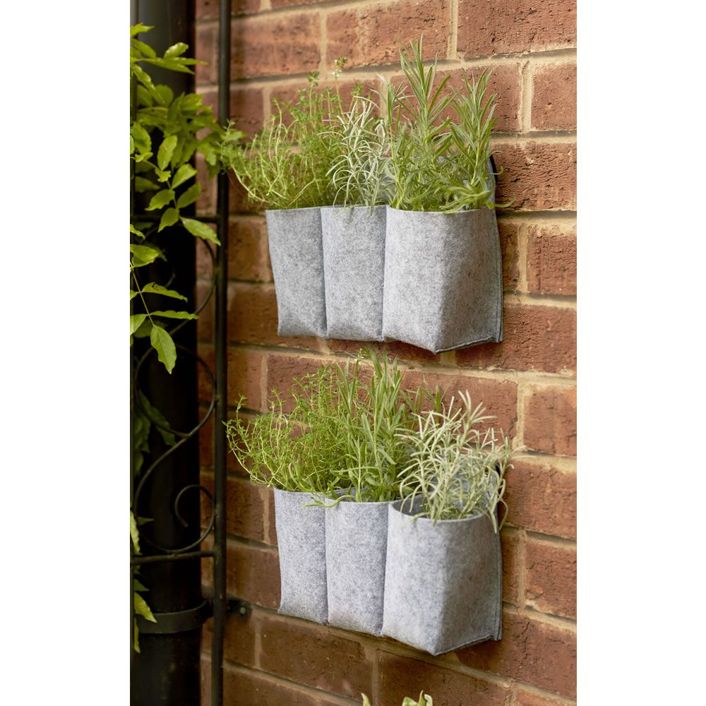 Wilko Clever Pots Hanging Wall Planter 2pk