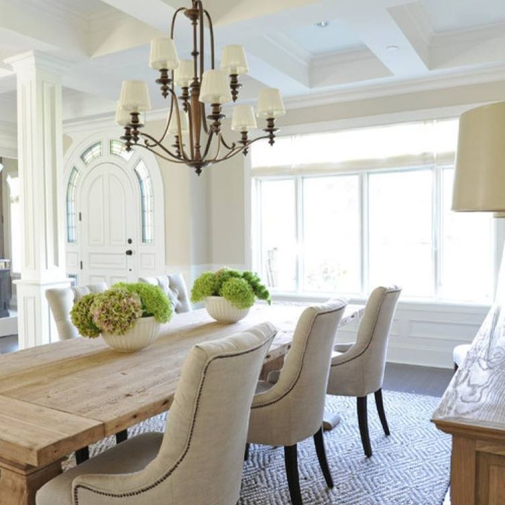 Room redo: Traditional neutral colors dining room by ...