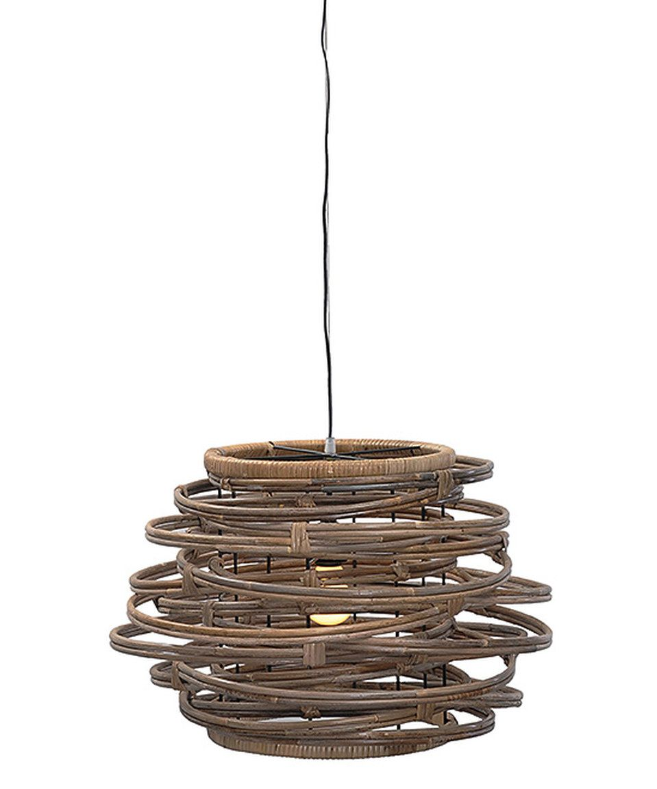 Take a look at this Kuboo Gray Oceola Drum Hanging Lamp today!