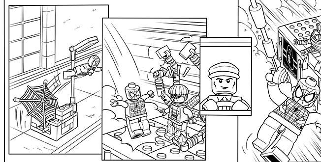 LEGO SPIDER MAN 7 Coloring Sheet