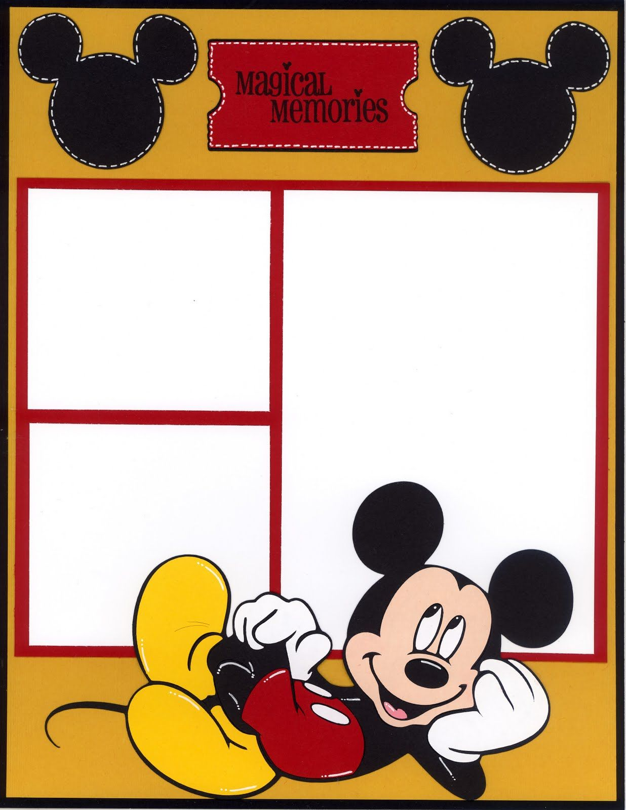 Mickey scrapbook page | BACKGROUND DISNEY | Pinterest | Bilder