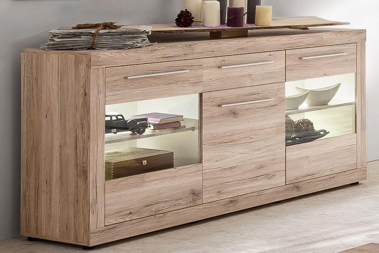 Sideboard Wohnzimmer ~ Sideboard sandeiche weiss woody holz modern jetzt