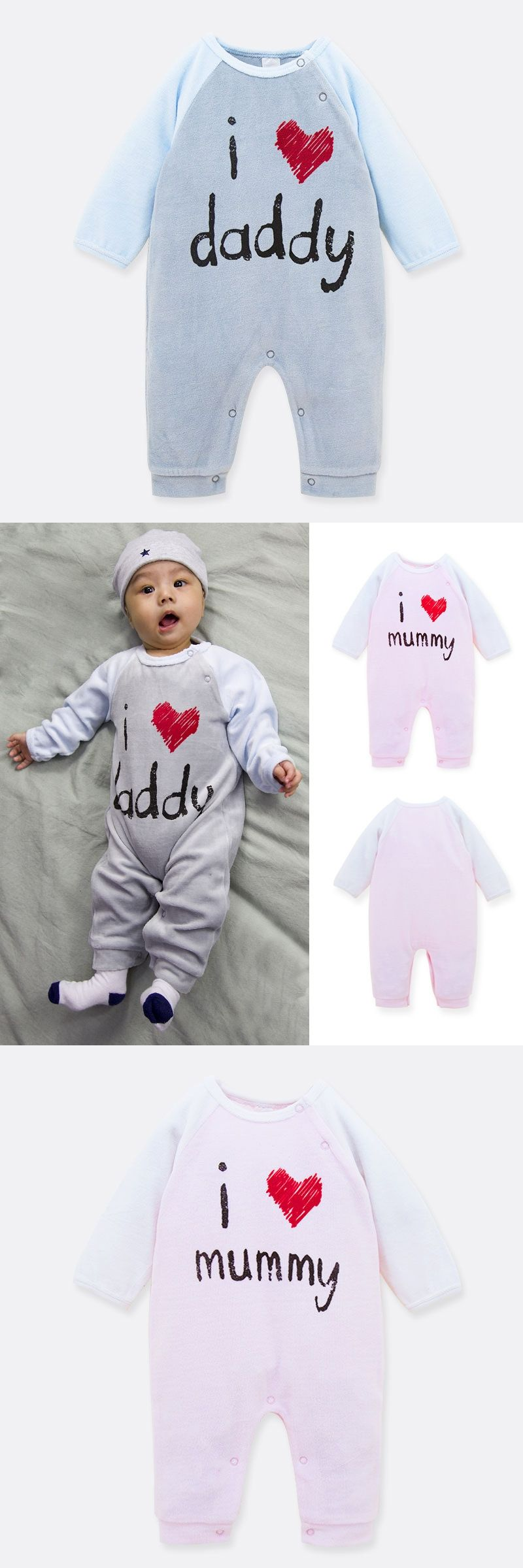 81709f2338a6 0-18M Spring Coral velvet Baby Rompers Cute baby romper mummy newborn baby  girl clothes