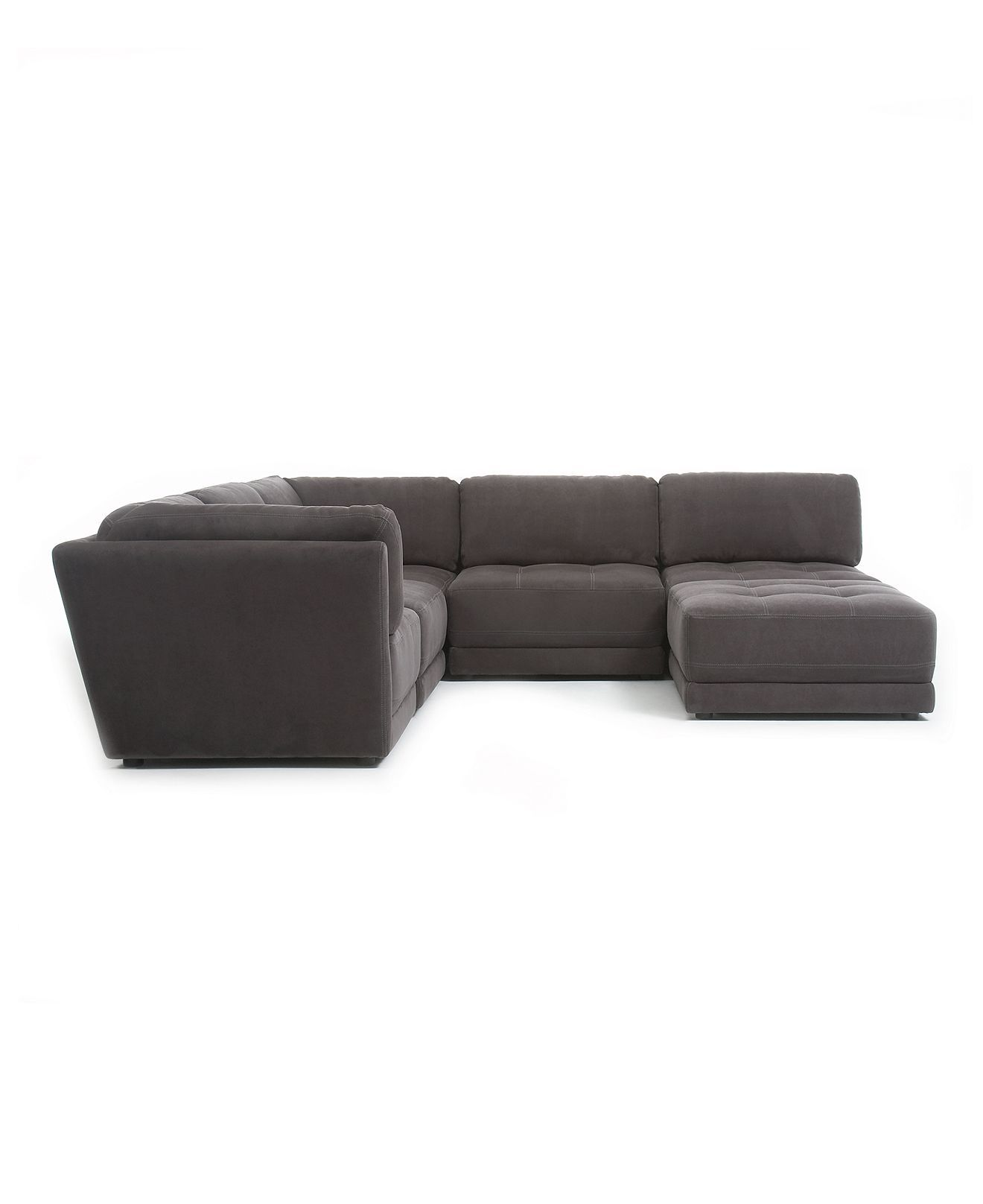 This n That Fabric Microfiber Modular Sectional Sofa 6 Piece 2