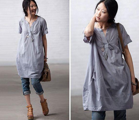 Long blouse dress for women