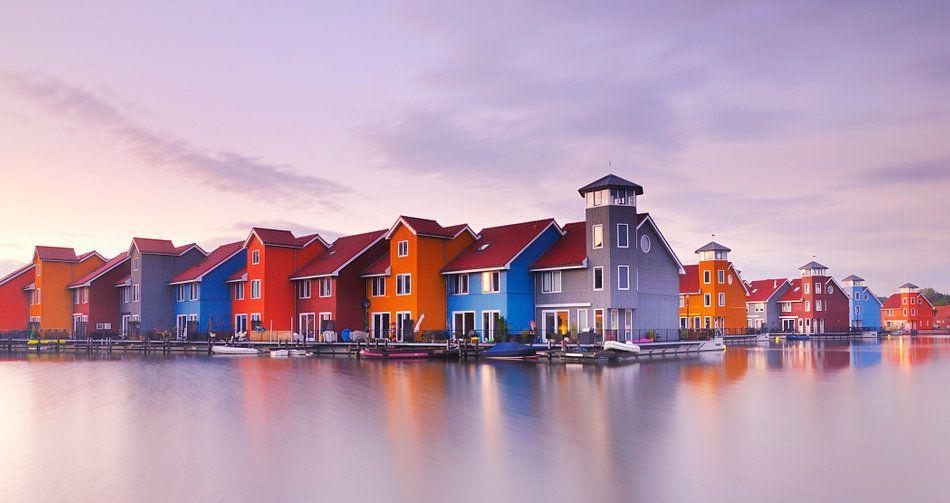 Reitdiephaven Groningen Van John Leeninga Op Canvas Behang En Meer Groningen House Styles Mansions
