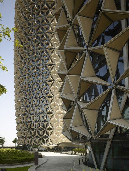 Mashrabiya facade at Al Bahr Towers, Abu Dhabi, UAE. Architecture: Aedas UK. Image © Christian Richters