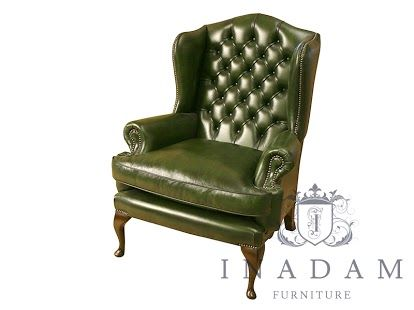 Traditional Leather Wingback Chair Low Profile Lawn Chairs Wing Back Available In A Wide Selection Of Colours And Wood Finishes All Handmade England By Highly Skilled Craftsmen