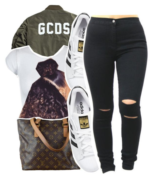 """July 28 , 2k15"" by yungd ❤ liked on Polyvore featuring adidas Originals and Louis Vuitton"