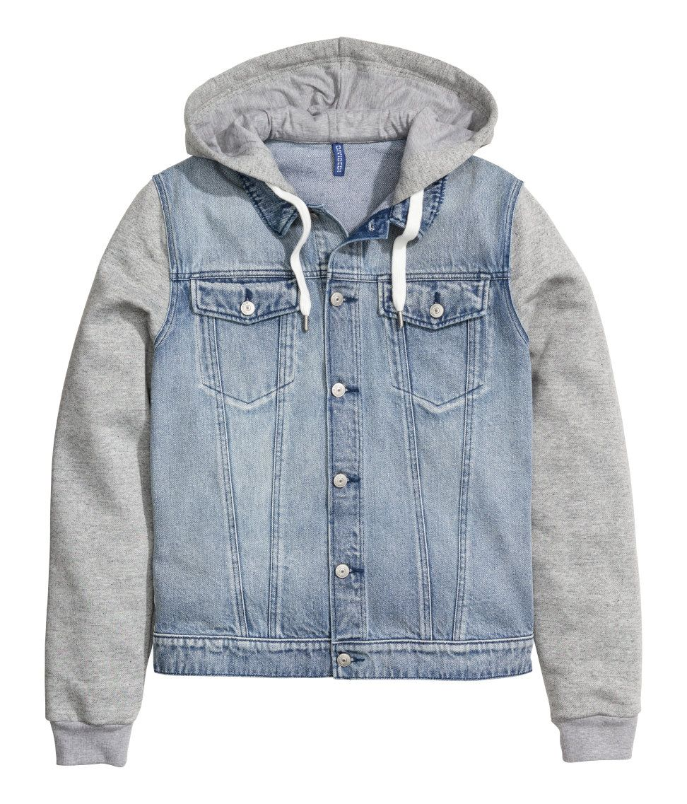b7e4f55e246a Hooded Denim Jacket | H&M Divided Guys | clothes in 2019 | Hooded ...