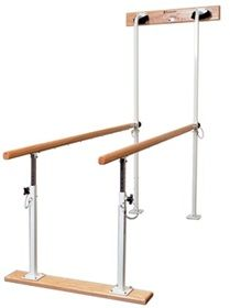 Wall Mount Parallel Bars Fold Up Against Wall Extending Only 8 From Wall When Not In Use Height Manually Adjusts From 26 39 And Secure Wall Mount Wall Bar