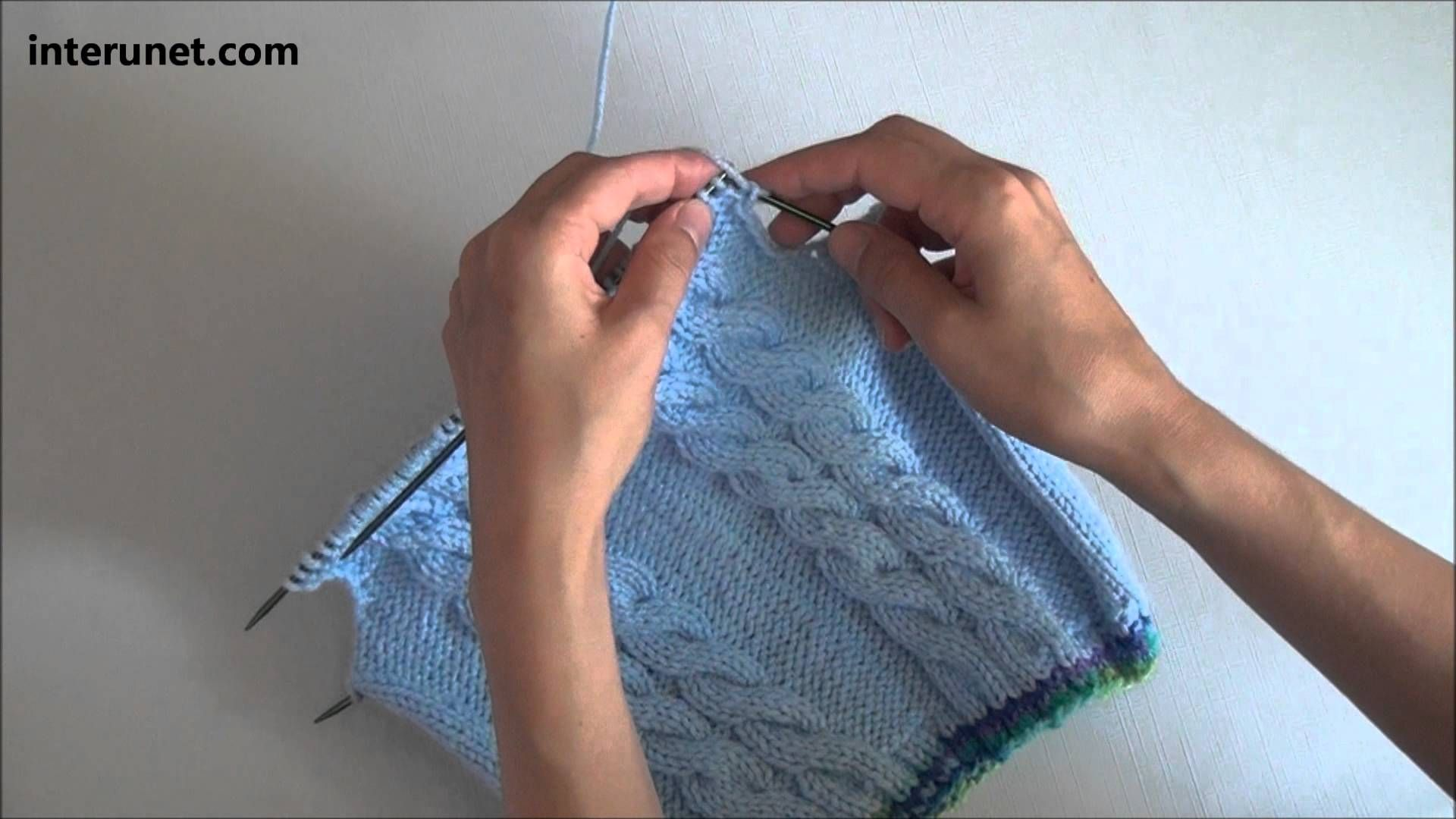 960ccd4021e4 How to knit a sweater for baby or toddler - video tutorial with ...