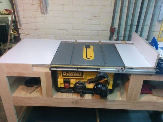 Table Saw Station Imgur Shop Ideas In 2018 Pinterest Table