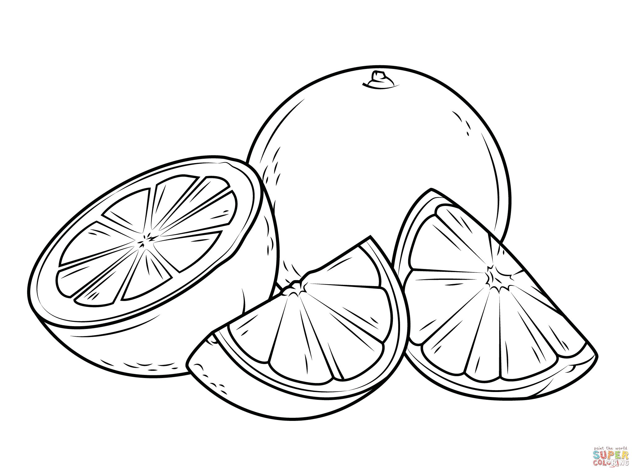 Pretty Photo Of Orange Coloring Page Fruit Coloring Pages