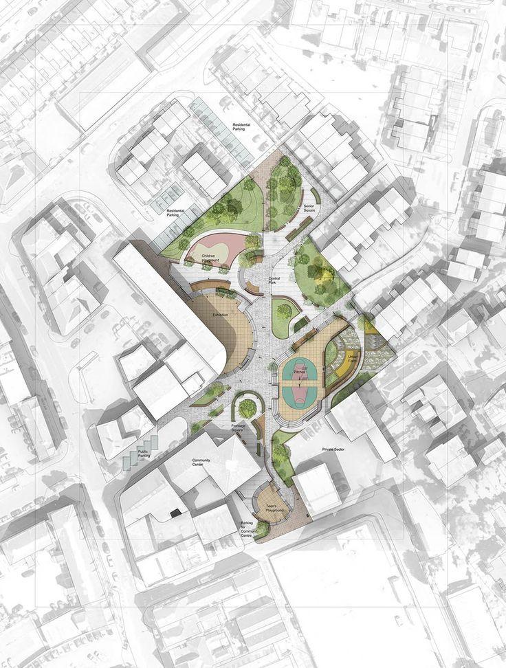 Spring Studio Landscape Architecture Presentation Architecture Site Plan Urban Landscape Design