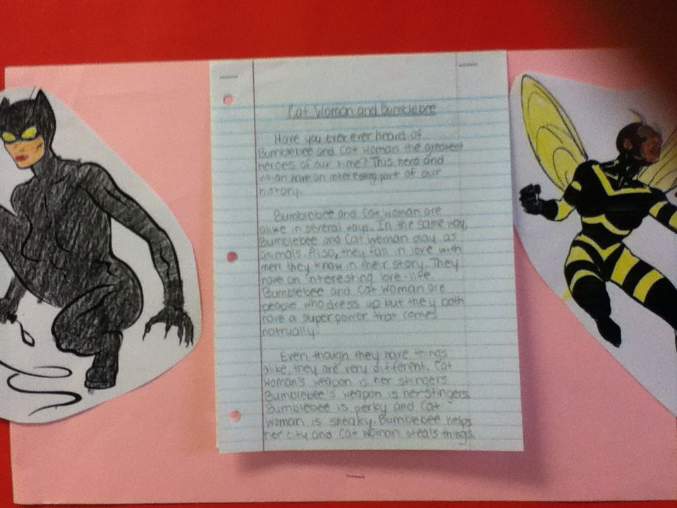 How do I compare and contrast two superheroes in an essay?