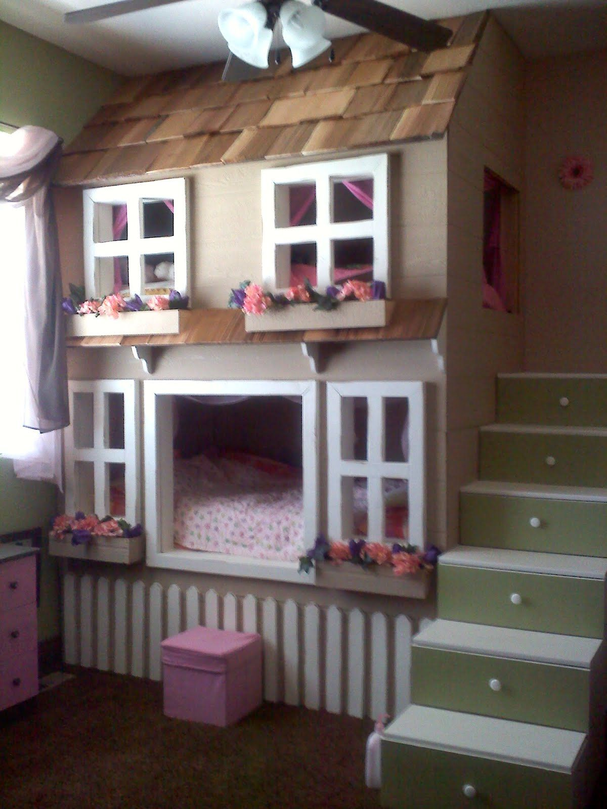 "Kids Bedroom House house"" bunk beds cool!! oh my goodness! this would b so cool for"
