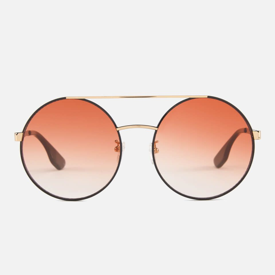 f4fc2937d7 McQ Alexander McQueen Women s Round Metal Frame Sunglasses - Pink Black  here at MyBag - the only online boutique you ll need for luxury handbags  and ...