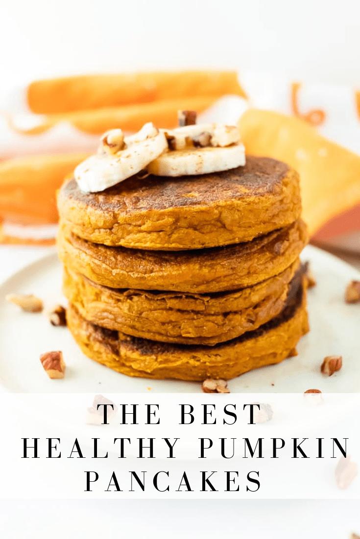 Healthy Pumpkin Pancakes | Once Upon A Pumpkin RD