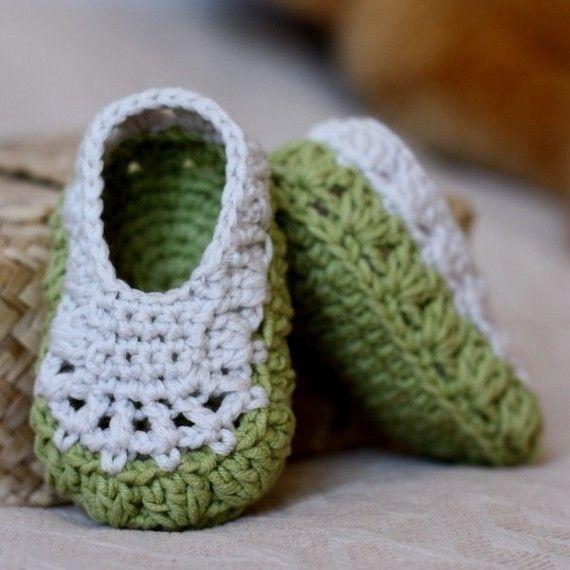Crochet PATTERN - Sorrento Slippers | Babyschühchen, Häkeln und Schuhe